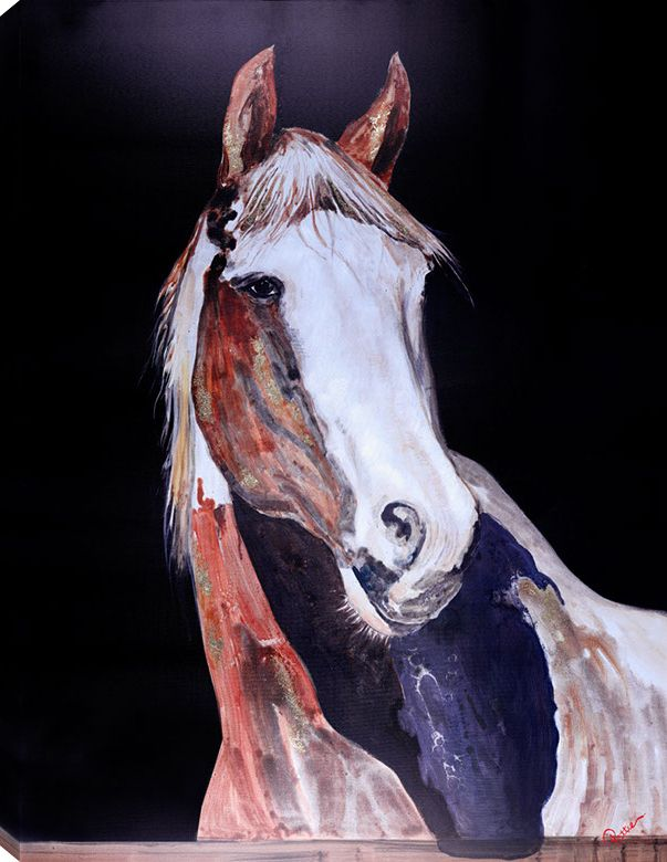 Art Maison Canada 36x48 HORSE III, Acrylic Painting on Canvas, Ready to Hang