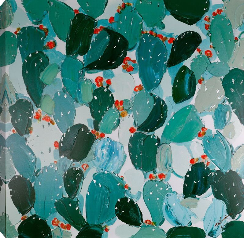 Art Maison Canada 40x40 CACTUS II, Acrylic Painting on Canvas, Ready to Hang
