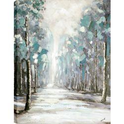 Art Maison Canada CHEMIN de la forêt 35 x 47, peinture acrylique sur toile, prêt à accrocher