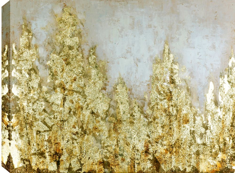 Art Maison Canada 29.5x39 GOLDEN, Acrylic Painting on Canvas, Ready to Hang