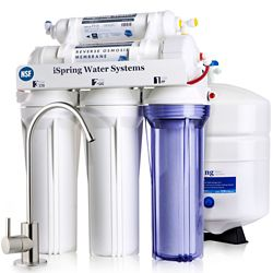 iSpring 5-Stage Superior Quality Under Sink Reverse Osmosis Drinking Water Filtration System