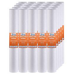 iSpring FP25X25 cartouches de rechange de filtre sédiments de 2,5 Inchx5 microns 20 pouces, pack de 25