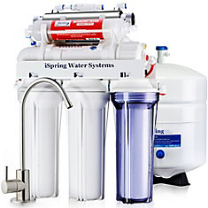 RCC7AK-UV 7-Stage Reverse Osmosis Water Filtration System w/Alkaline Filter & UV Sterilizer