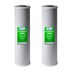 FC25BX2 - 4.5 Inch x 20 Inch Whole House Water Filter CTO Carbon Block - Pack of 2