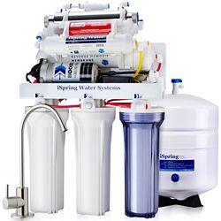 iSpring RCC1UP-AK 7Stage RO Water Filtration System w/Booster Pump, Alkaline Filter & UV Sterilizer