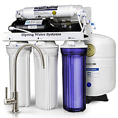 RCC7P 5-Stage Reverse Osmosis Drinking Water Filtration System with Booster Pump