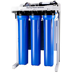 RCB3P 300 GPD Commercial Reverse Osmosis Water Filter System w/ Booster Pump and Oversized Filters