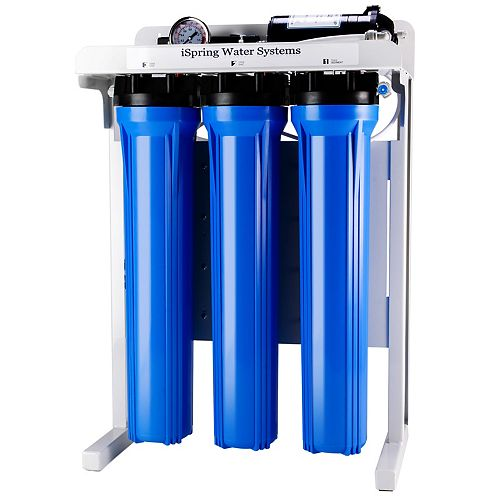 iSpring RCB3P 300 GPD Commercial Reverse Osmosis Water Filter System w/ Booster Pump and Oversized Filters