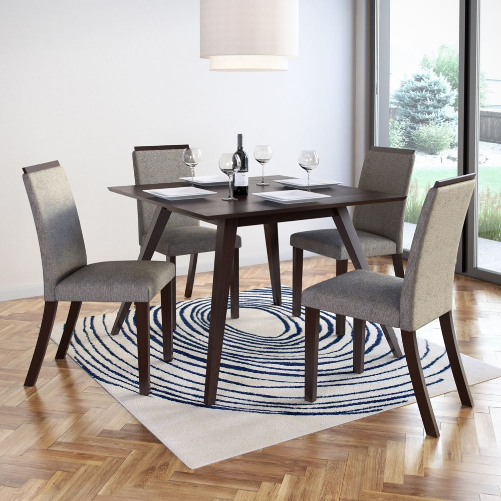 Corliving Bistro Pewter Grey Dining Chairs, (Set of 2)