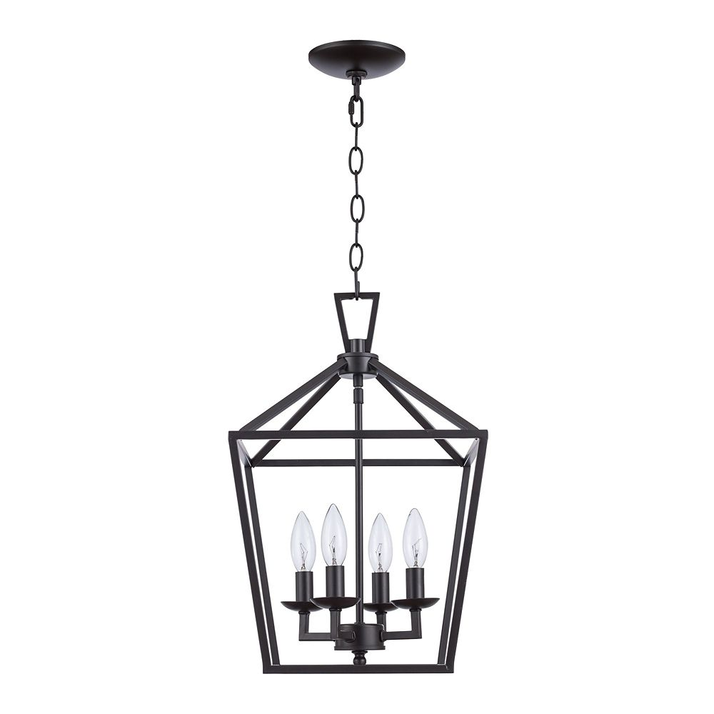 Bel Air Lighting Lacey 4-Light Rubbed Oil Bronze Pendant