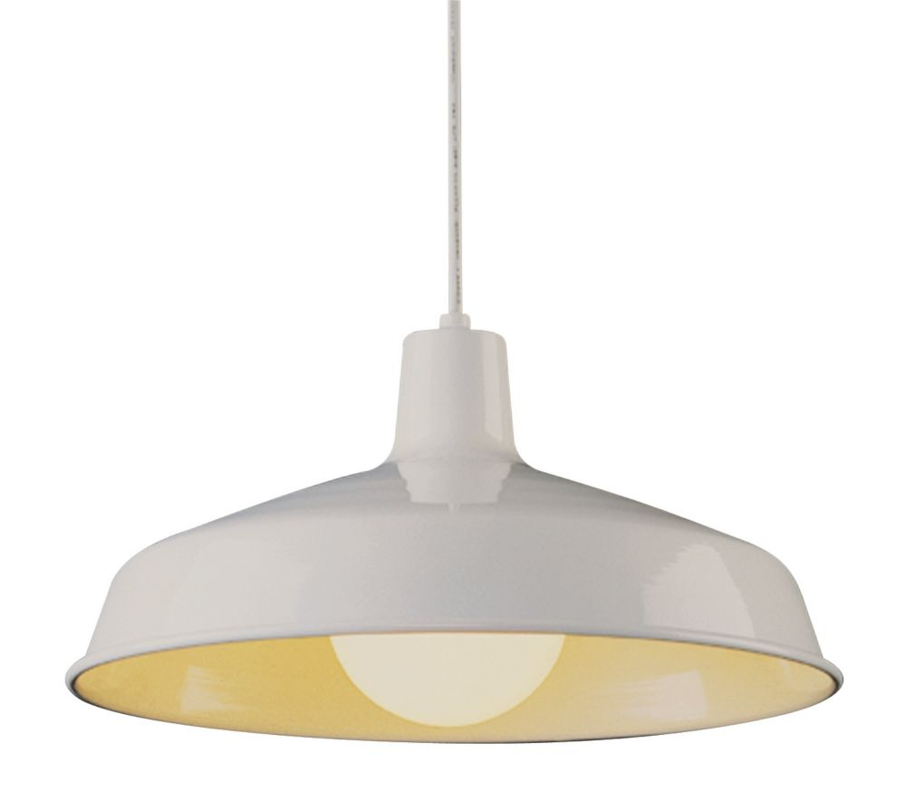 Bel Air Lighting Sherman 1-Light White Pendant