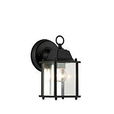 Patrician 1-Light Black Wall Lantern
