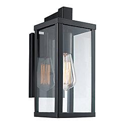 Bel Air Lighting Oxford 1-Light Wall Lantern in Black