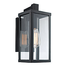 Oxford 1-Light Wall Lantern in Black