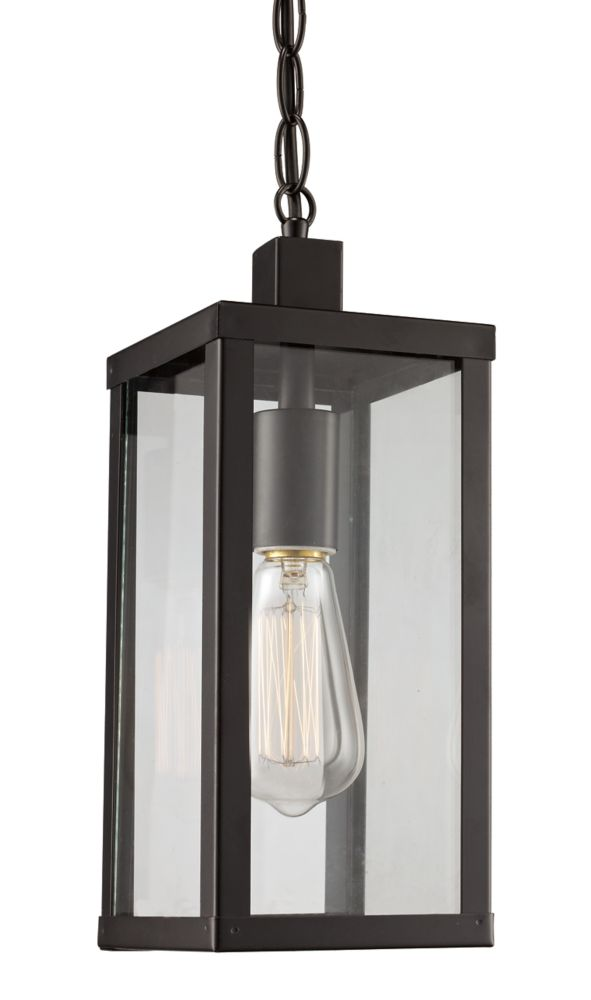 Bel Air Lighting Oxford 1-Light Black Hanging Lantern