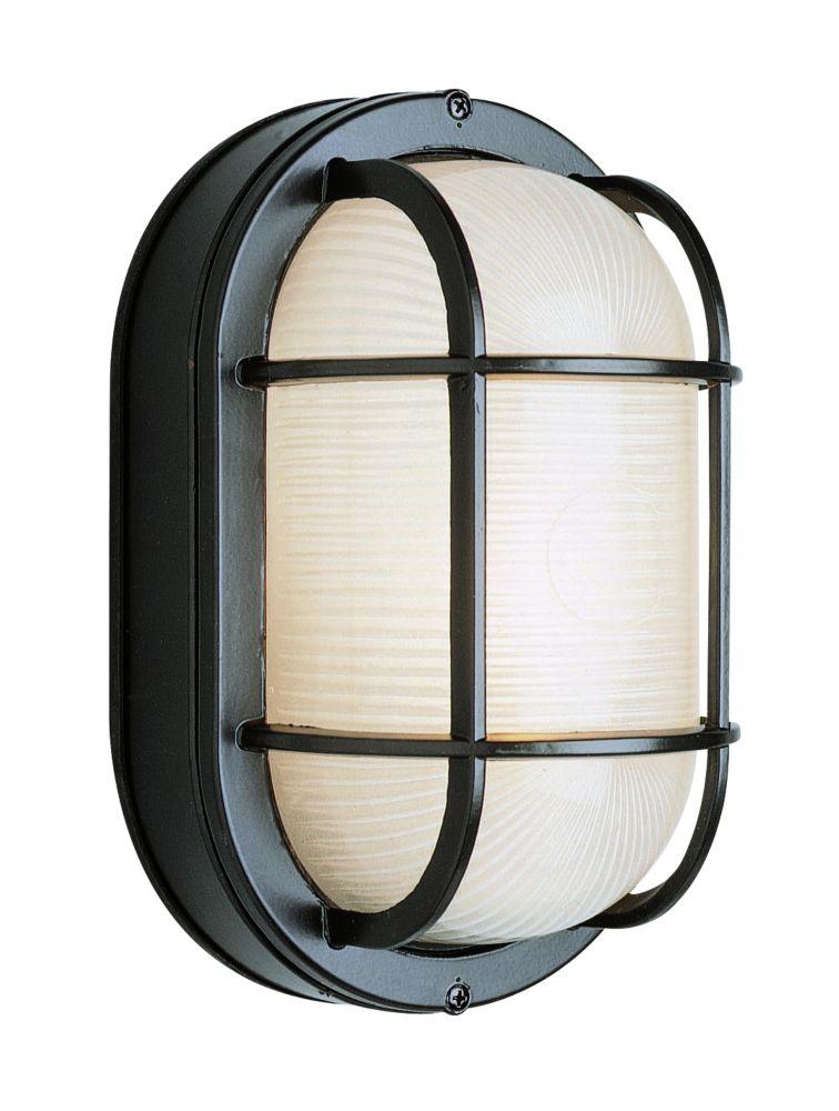 Bel Air Lighting Aria 1-Light Black Wall Lantern