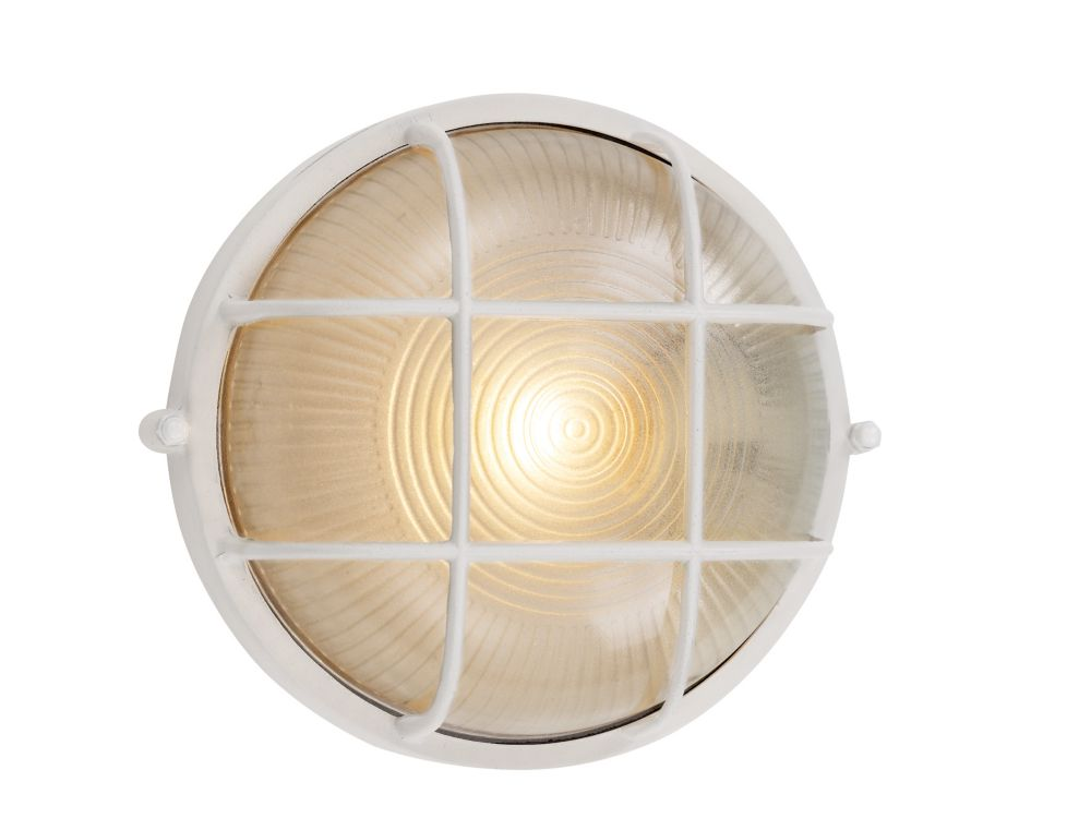 Bel Air Lighting Aria 1-Light White Wall Lantern