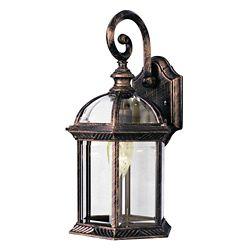 Bel Air Lighting Wentworth 1 lumière fini noir cuivre lanterne murale