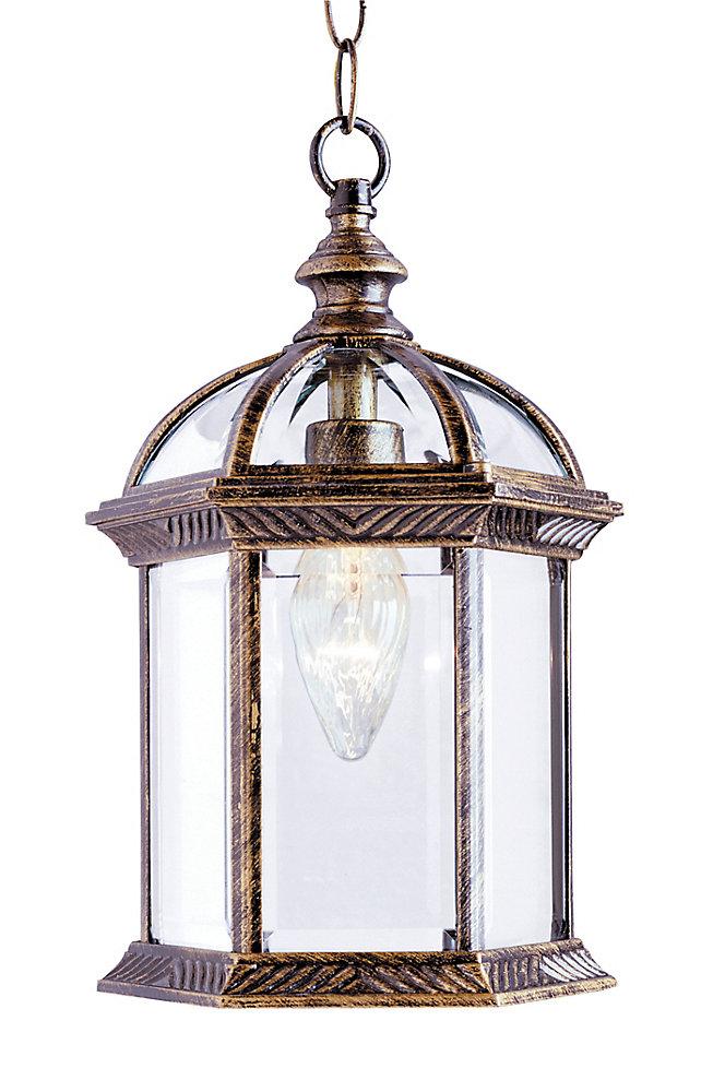 Wentworth 1-Light Black Gold Hanging Lantern