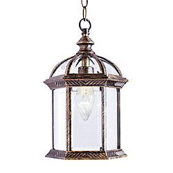Bel Air Lighting Wentworth 1 lumière fini or ébène lanterne pendante