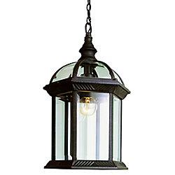 Bel Air Lighting Wentworth 1 lumière fini noir lanterne pendante