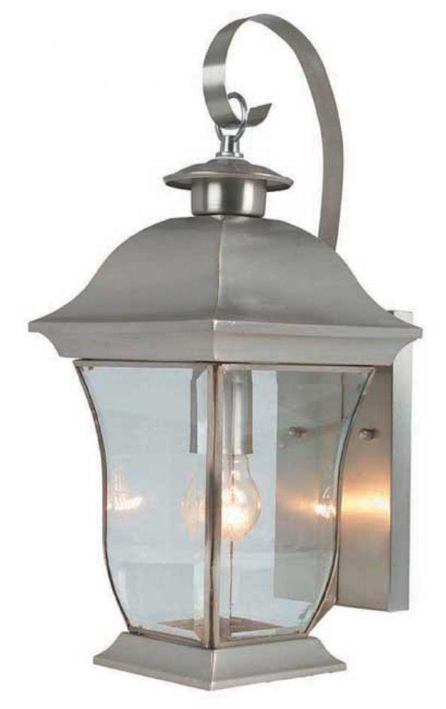 Bel Air Lighting Downing 1-Light Brushed Nickel Wall Lantern