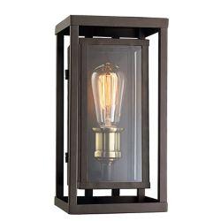 Bel Air Lighting Showcase 1 lumière fini en bronze huilé poncé et laiton antique lanterne murale
