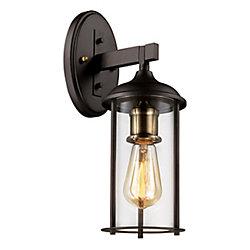 Bel Air Lighting Blues 1 lumière fini en bronze huilé poncé lanterne murale