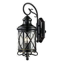 Bel Air Lighting Chandler 2 lumières fini en bronze huilé poncé lanterne murale