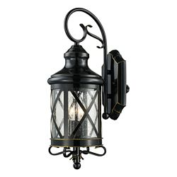 Bel Air Lighting Chandler 2-Light Wall Lantern in Oil Rubbed Bronze