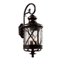 Bel Air Lighting Chandler 4-Light Rubbed Oil Bronze Wall Lantern