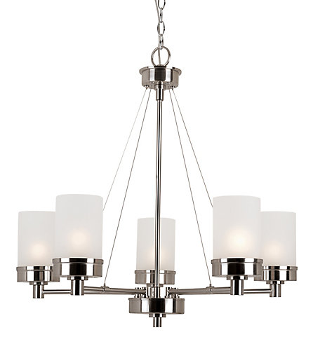 Bel air lighting fusion 5 light brushed nickel chandelier the fusion 5 light brushed nickel chandelier mozeypictures Choice Image