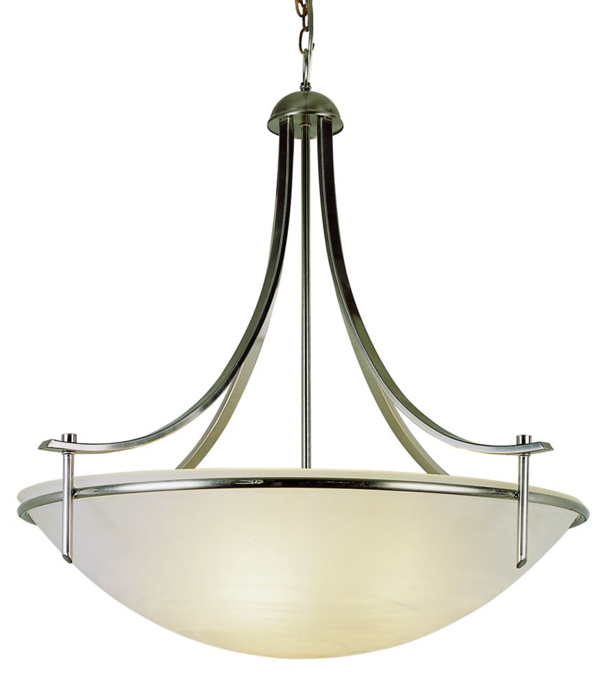 Bel Air Lighting Vitalian 3-Light Brushed Nickel Pendant