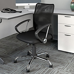Corliving Workspace Office Chair with Contoured Black Mesh Back