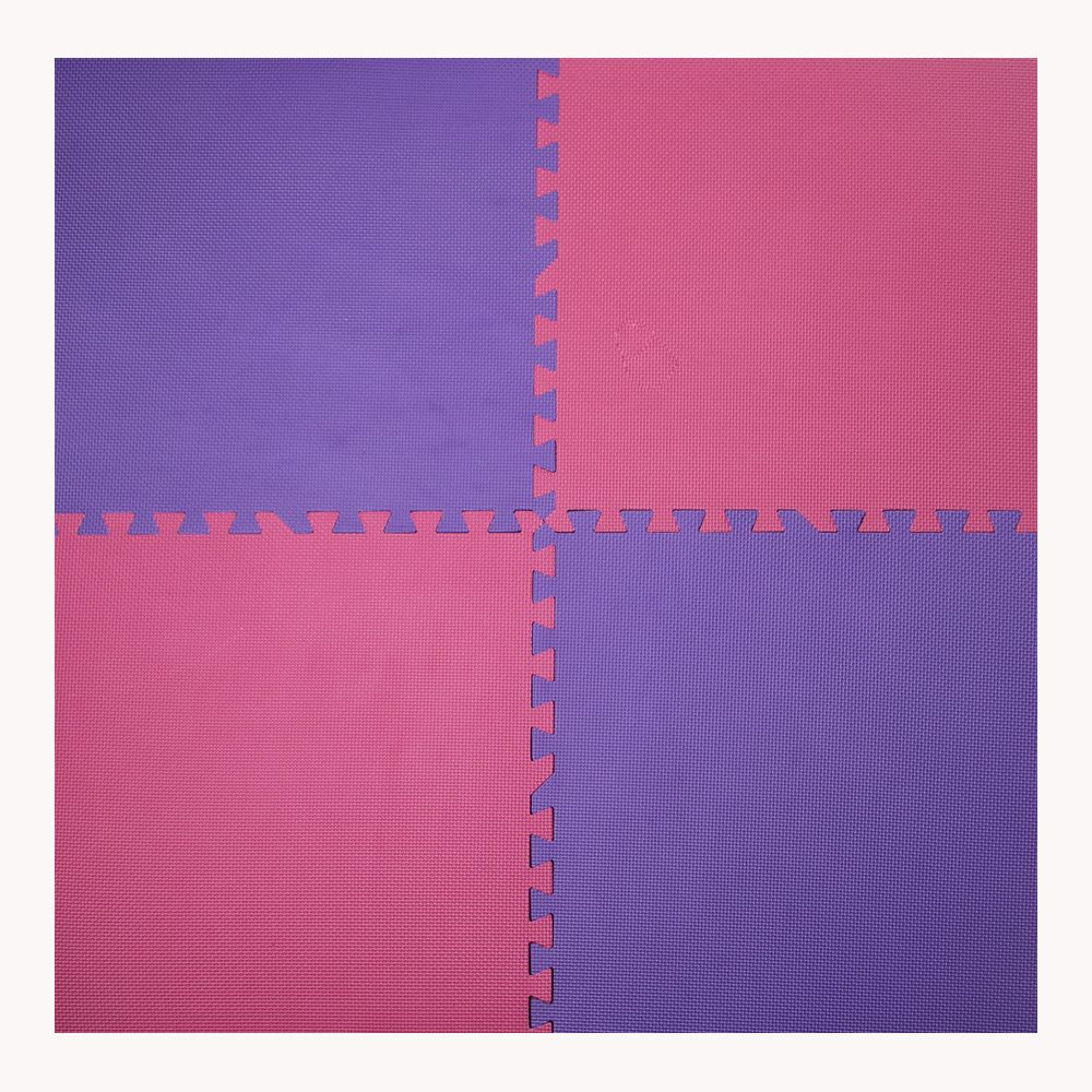 Connect-A-Mat Fuchsia and Purple 24-inch X 24-inch Anti-Fatigue Interlocking Mats (4 Pack)
