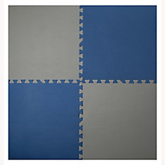 Navy and Taupe 24-inch X 24-inch Anti-Fatigue Interlocking Mats (4 Pack)