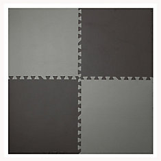 Brown and Taupe 24-inch X 24-inch Anti-Fatigue Interlocking Mats (4 Pack)