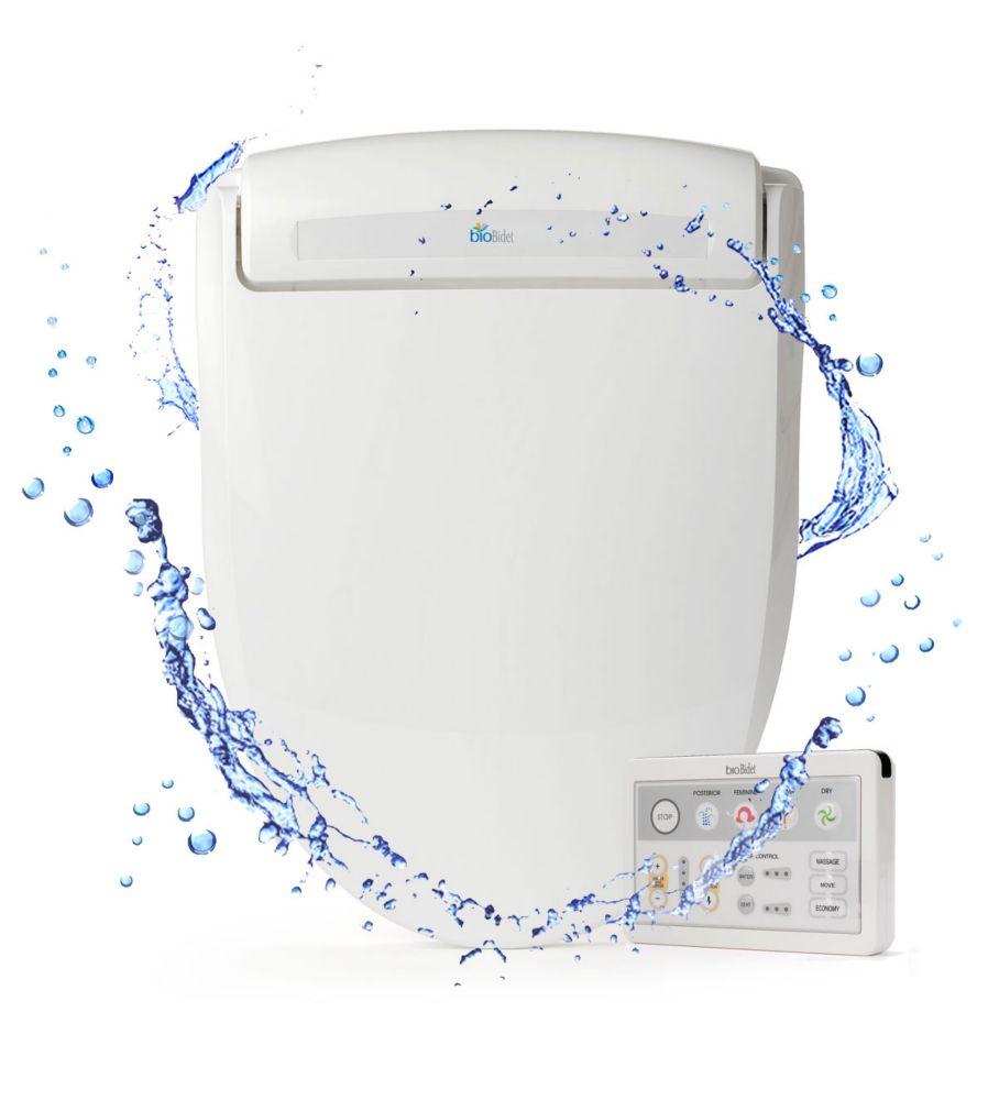BioBidet Supreme BB-1000R Electric Bidet Seat for Round Toilets in White