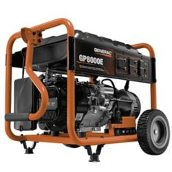 Generac 8,000W Gasoline Powered Electric Start Portable Generator
