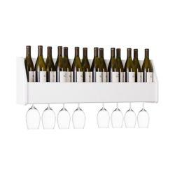 Prepac Floating Wine Rack, White