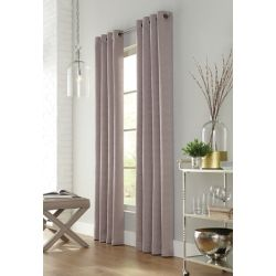 Home Decorators Collection Sunderland, Taupe, Light Filtering, Geo Jacquard, Grommet Panel 52in x 95in