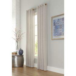 Home Decorators Collection Munich, Linen, Light Filtering, Faux Linen Grommet Panel 52in x 95in