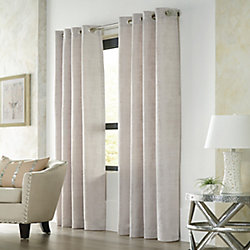 Home Decorators Collection Monolith Light Filtering Grommet Curtain 52 inches width X 95 inches length,' Silver
