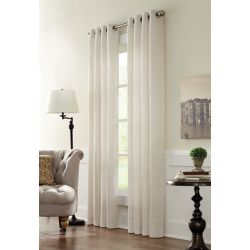HDC Geneva Light Filtering Grommet Curtain 52 inches width X 108 inches length, Natural