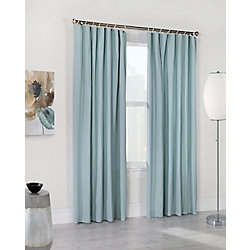 Habitat Kazan light filtering washed cotton panel decorative rope top header, seafoam 50in x 84in