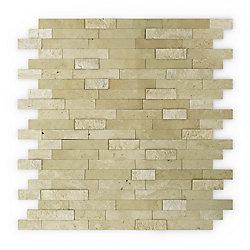 SpeedTiles Tuile de mosaÏque pour murs Cairo, 11,77 po x 11,57 po x 0,32 po, pierre, beige