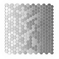 Hexagonia S2 11,46-inch x 11.89-inch Metal Self-Adhesive Wall Mosaic Tile