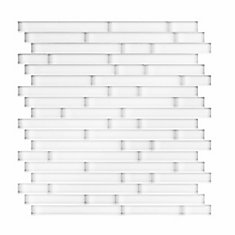 Serenity 11.65 in. X 11.69 in. X 5mm Glass Self Adhesive Wall Tile in White