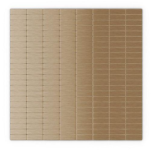 Tuile de mosaÏque pour murs Urbain LC, 11,42 po x 11,57 po x 0,2 po, metal, cuivre