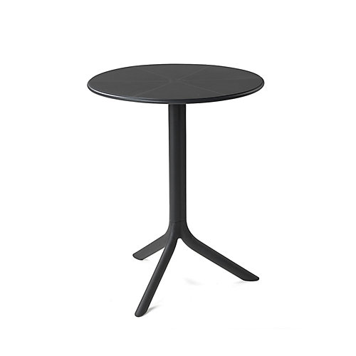 Spritz Outdoor Bistro Table with Two Bases - Anthracite